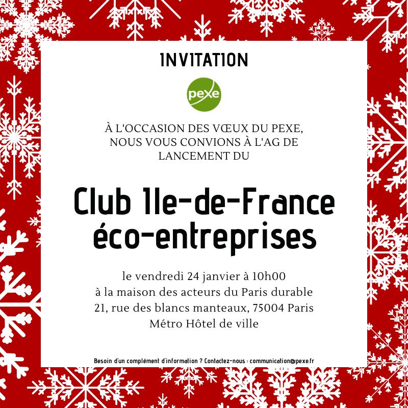 Invitation Lancement Club IDF éco-enteprises