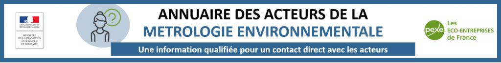annuaire des acteurs de la métrologie environnementale