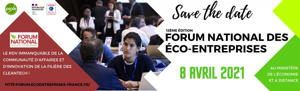 Le forum national des éco-entreprises le 8 avril 2021