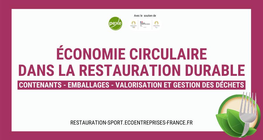 Bandeau Annuaire économie circulaire dans la restauration durable