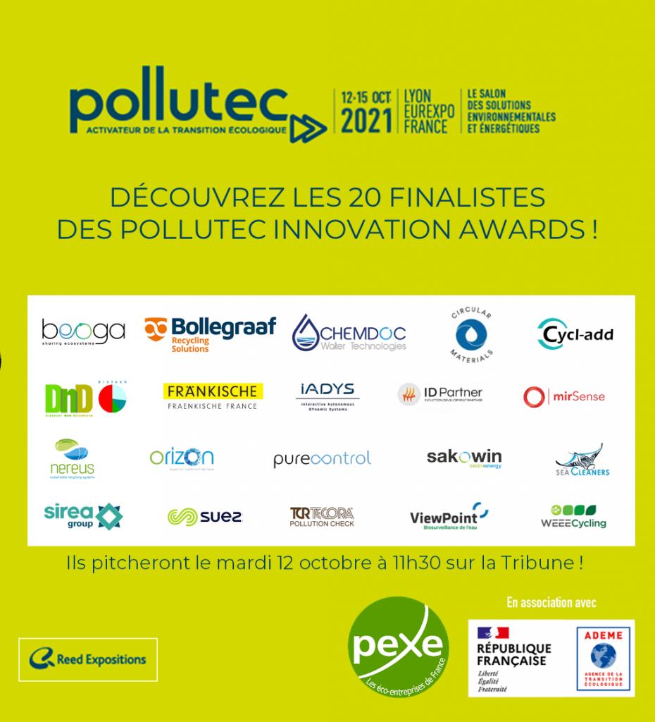 Découvrez les 20 finalistes des Pollutec Innovation Awards